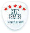 Five Stars at FreeTrialSoft